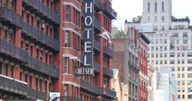4K Chelsea Hotel Establishing Shot ビデオ