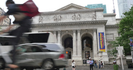 4K New York Public Library Establishing Shot Footage