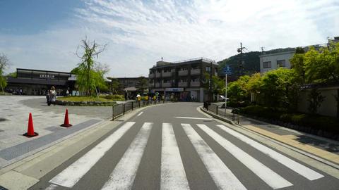 Driver POV along the local neighborhood of Arashiyama Station ภาพวิดีโอ