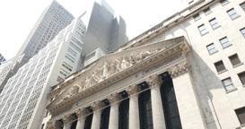 4K Wall Street New York Stock Exchange Establishing Shot Footage