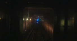 4K Subway Train Ahead POV Footage