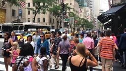 Slow Motion Manhattan Tourists Footage