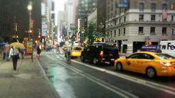 Rainy Day in Manhattan Establishing Shot Footage