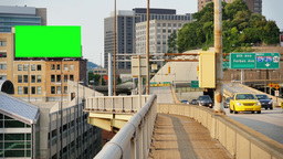 Pittsburgh Liberty Bridge Green Screen Billboard Footage