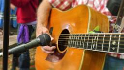 4K Playing Guitar Detail Closeup GIF