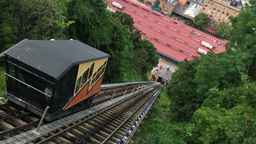 4K Pittsburgh Mt Washington Monongahela Incline Establishing Shot Footage