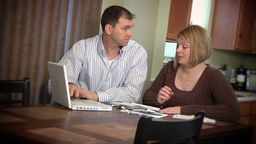 Married Couple Worried About Bills Footage