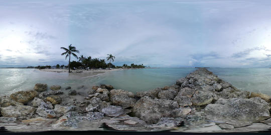 360 VR Beach and Sea Guadeloupe Sainte Anne second location 360 VR Footage