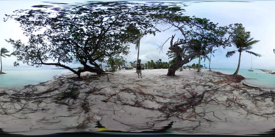 360 VR Guadeloupe beach saint Anne during the Hurricane Maria 360 VR Footage