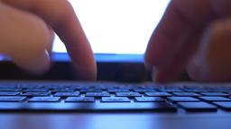 Typing PC Laptop Keyboard Footage