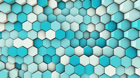 3d wavy hexagons pipes Live Action