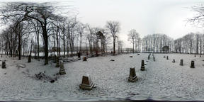 Snowy Graveyard 2 - 360 VR Photo