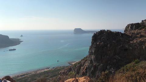 Beach Of Balos, Crete Island, Greece Live Action