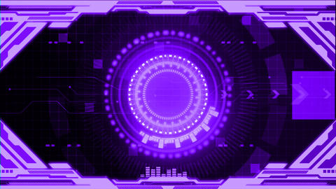 HUD digital display background 0016 Animation