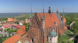 Gothic cathedral in Frombork town, Poland Live Action