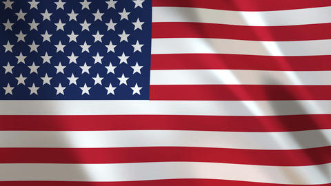 USA Flag waving in the wind Animation