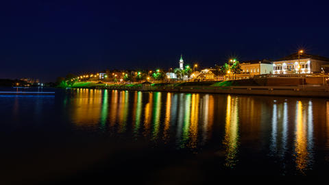 The city of Kazan during a beautiful summer night Photo
