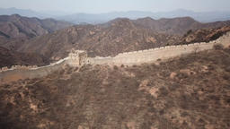 4k aerial video of Jinshanling Great Wall ビデオ