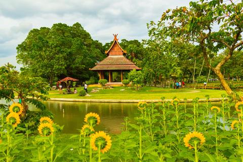 Topiary beautiful garden for relaxation in King Rama 9, Bangkok, Thailand Photo