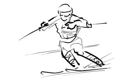 スキー-変化アニメーション CG動画