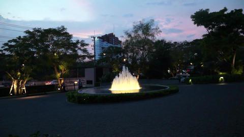 Hua hin marriott resort hotel fountain in Thailand GIF