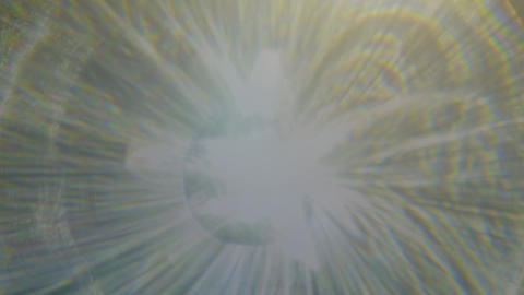Futuristic dim warm light light reflected from crystal pulses and glows Footage