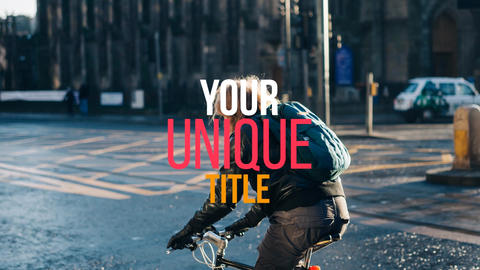 Photo Kinetic Typography After Effects Template