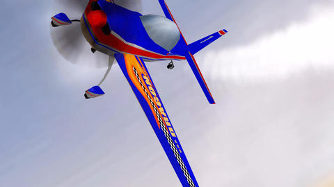 3d aerobatic Flight Animación
