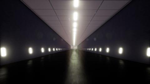 Movement inside a dark corridor Footage