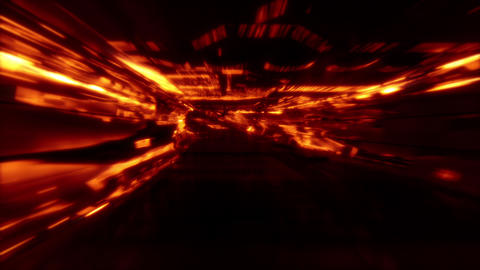 Neon Light SciFi Tunnel Fast Loop - Lava GIF