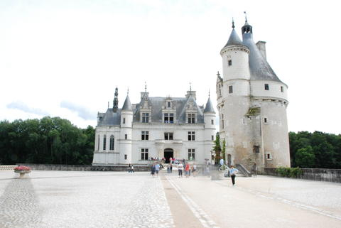 The Chateau de Chenonceau is a French chateau spanning the River Cher, near the Photo