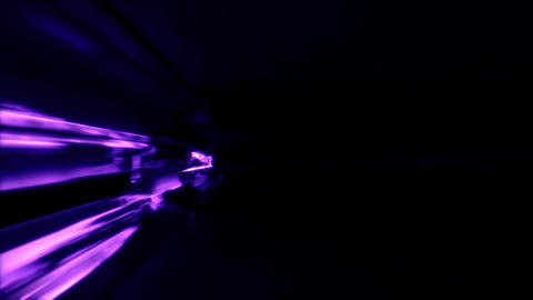 Neon Light SciFi Tunnel Fast Loop - Purple Stock Video Footage