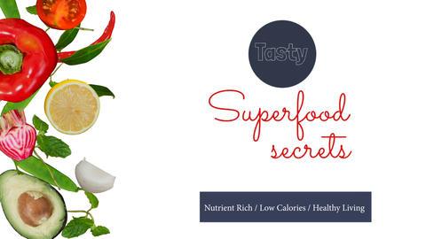Digitally generated video of super food secret 4k Stock Video Footage