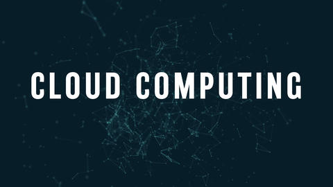 Cloud computing with polygonal connecting dots and lines 4k Live Action