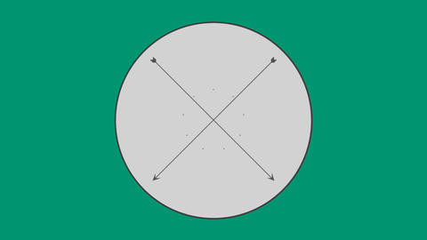 Cross arrow in circle 4k Live Action