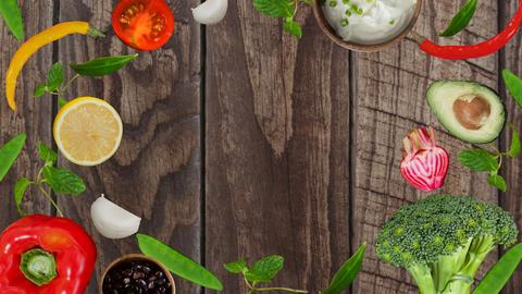 Digitally generated video of healthy food 4k Footage