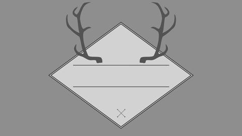 Vector of antler in square 4k Footage