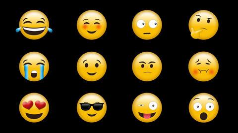 Digital generated video of emoji 4k Live Action