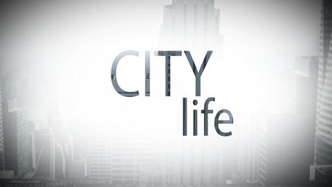 Digital composite video of city life 4k Live Action