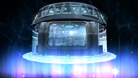 3d animation of futuristic flying spaceship Animation