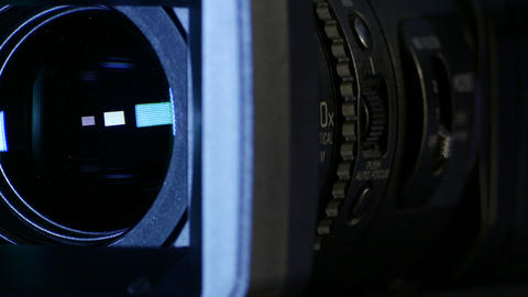 Professional Video Camera Lens Stock Video Footage