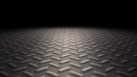 Industrial metal floor loop Animation