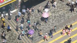 4k video of pedestrians in Hong Kong ビデオ