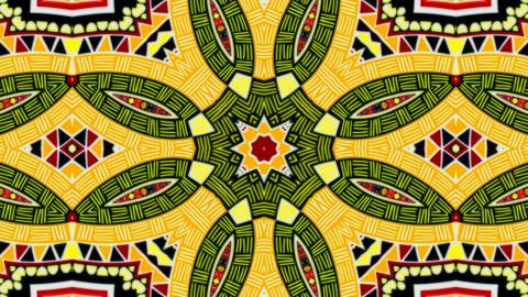 Kaleidoscope flower patterns CG動画素材