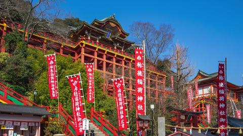 Yutoku Inari shrine in Saga, Japan Live Action