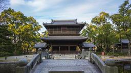 Timelapse video of Shofukuji Zen Temple in Fukuoka, Japan time lapse 4K Footage