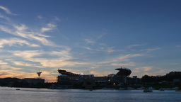 4K Heinz Field Evening Establishing Shot Timelapse Footage
