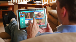 4K Video Chatting on a Tablet PC Footage