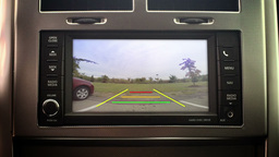 Vehicle In-Dash Backup Camera Footage
