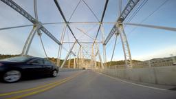 4K POV Driving over Ambridge Bridge Footage